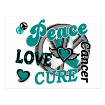 Peace Love Cure 2 Cervical Cancer 2 Postcard