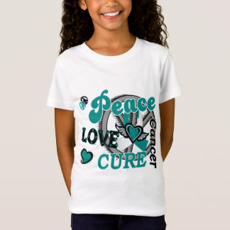 Peace Love Cure 2 Cervical Cancer 2 T-Shirt