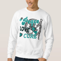 Peace Love Cure 2 Cervical Cancer Sweatshirt