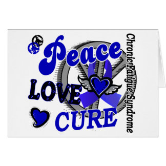 Peace Love Cure 2 CFS Greeting Cards