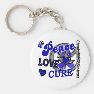 Peace Love Cure 2 CFS Keychain