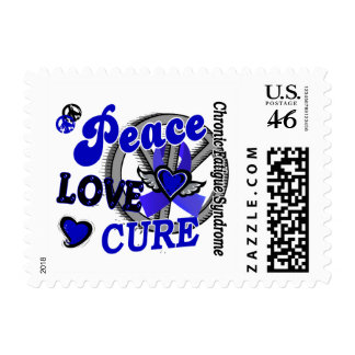 Peace Love Cure 2 CFS Postage Stamps