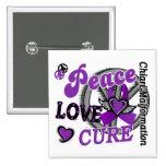 Peace Love Cure 2 Chiari Malformation Button