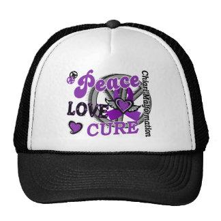 Peace Love Cure 2 Chiari Malformation Trucker Hat