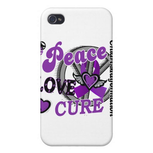 Peace Love Cure 2 Chiari Malformation iPhone 4 Cases