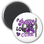 Peace Love Cure 2 Chiari Malformation Fridge Magnets