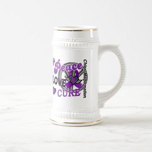 Peace Love Cure 2 Chiari Malformation 18 Oz Beer Stein