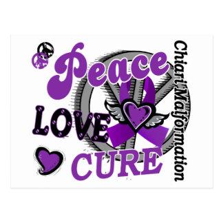 Peace Love Cure 2 Chiari Malformation Postcard