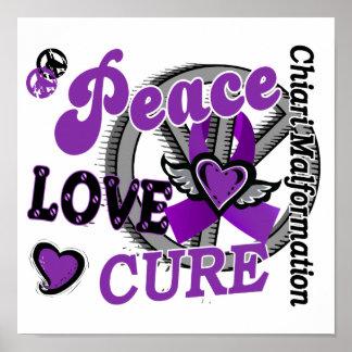 Peace Love Cure 2 Chiari Malformation Poster