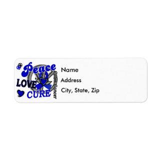 Peace Love Cure 2 Colon Cancer Label