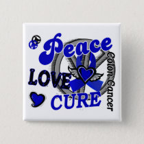 Peace Love Cure 2 Colon Cancer Pinback Button