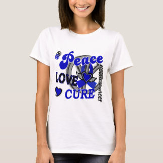 Peace Love Cure 2 Colon Cancer T-Shirt