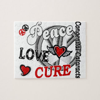 Peace Love Cure 2 Congenital Cataracts Jigsaw Puzzle