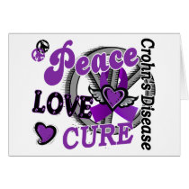 Peace Love Cure 2 Crohn's Disease Card