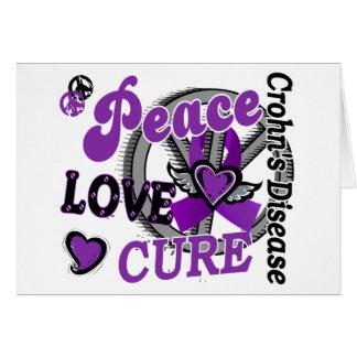 Peace Love Cure 2 Crohn's Disease Card