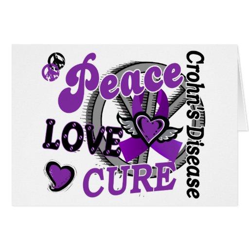 Peace Love Cure 2 Crohn's Disease Cards