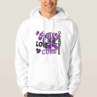 Peace Love Cure 2 Crohn's Disease Hooded Pullover