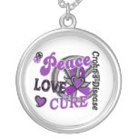 Peace Love Cure 2 Crohn's Disease Necklaces
