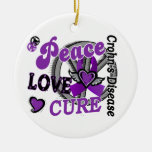Peace Love Cure 2 Crohn's Disease Ornament
