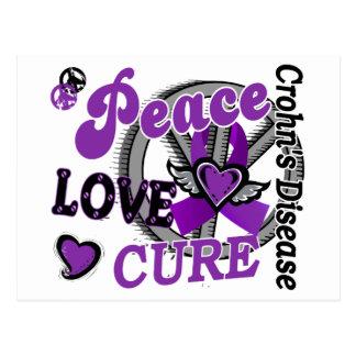 Peace Love Cure 2 Crohn's Disease Postcard