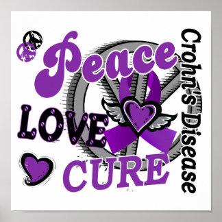 Peace Love Cure 2 Crohn's Disease Poster