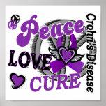 Peace Love Cure 2 Crohn's Disease Print