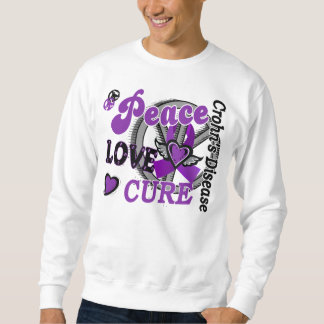Peace Love Cure 2 Crohn's Disease Pullover Sweatshirt