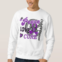 Peace Love Cure 2 Crohn's Disease Sweatshirt