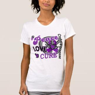 Peace Love Cure 2 Crohn's Disease T Shirt