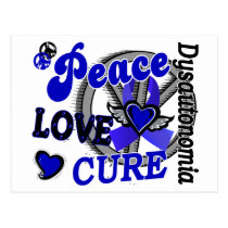 Peace Love Cure 2 Dysautonomia Postcard