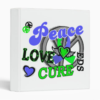 Peace Love Cure 2 EDS 3 Ring Binder