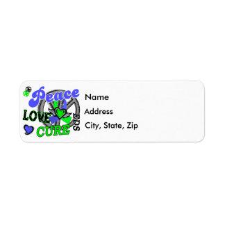 Peace Love Cure 2 EDS Custom Return Address Label