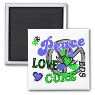 Peace Love Cure 2 EDS Fridge Magnet
