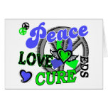 Peace Love Cure 2 EDS Greeting Card