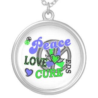 Peace Love Cure 2 EDS Necklace