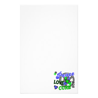 Peace Love Cure 2 EDS Personalized Stationery