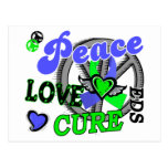 Peace Love Cure 2 EDS Postcard