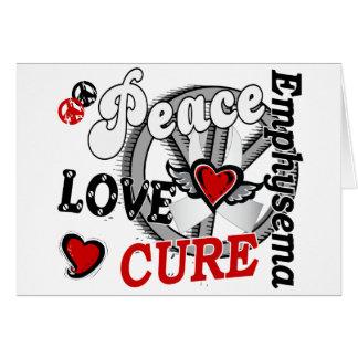 Peace Love Cure 2 Emphysema Card
