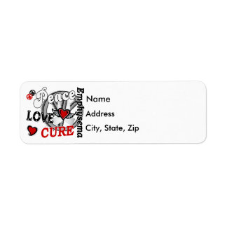 Peace Love Cure 2 Emphysema Return Address Labels