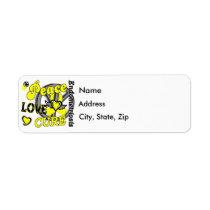 Peace Love Cure 2 Endometriosis Label