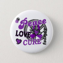Peace Love Cure 2 Epilepsy Button