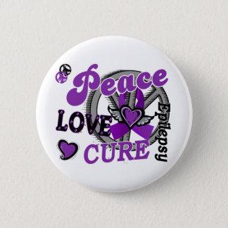 Peace Love Cure 2 Epilepsy Button