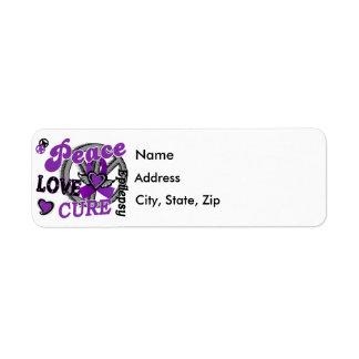 Peace Love Cure 2 Epilepsy Label