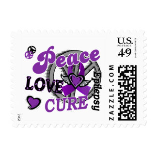 Peace Love Cure 2 Epilepsy Postage Stamp