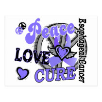 Peace Love Cure 2 Esophageal Cancer Postcard