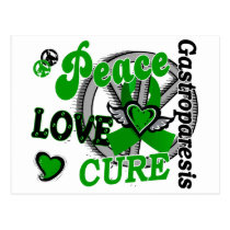 Peace Love Cure 2 Gastroparesis Postcard