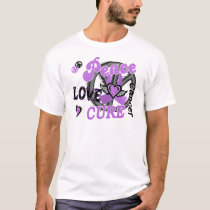 Peace Love Cure 2 General Cancer T-Shirt