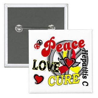 Peace Love Cure 2 Hepatitis C Pin