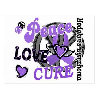 Peace Love Cure 2 Hodgkin's Lymphoma Postcard
