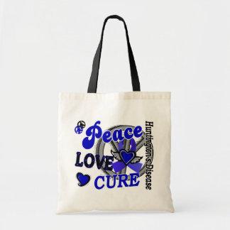 Peace Love Cure 2 Huntington's Disease Budget Tote Bag